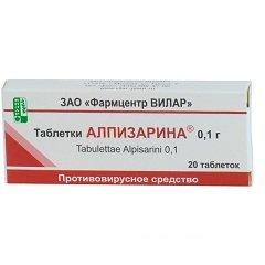 Противовирусное средство Алпизарин в таблетках