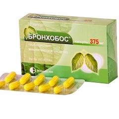 Бронхобос капсулы 375 мг 30 шт  цена 370 руб в Москве, купить Бронхобос капсулы 375 мг 30 шт  инструкция по применению, отзывы в интернет аптеке
