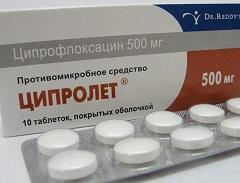 Таблетки Ципролет - инструкция по применению, аналоги, отзывы