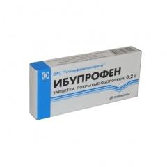 Применение ибупрофена в таблетках
