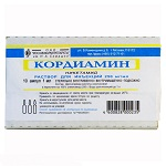 Кордиамин цена от 54 руб, Кордиамин купить в Москве, инструкция по применению, аналоги, отзывы