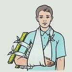 Первая помощь при открытых переломах костей
